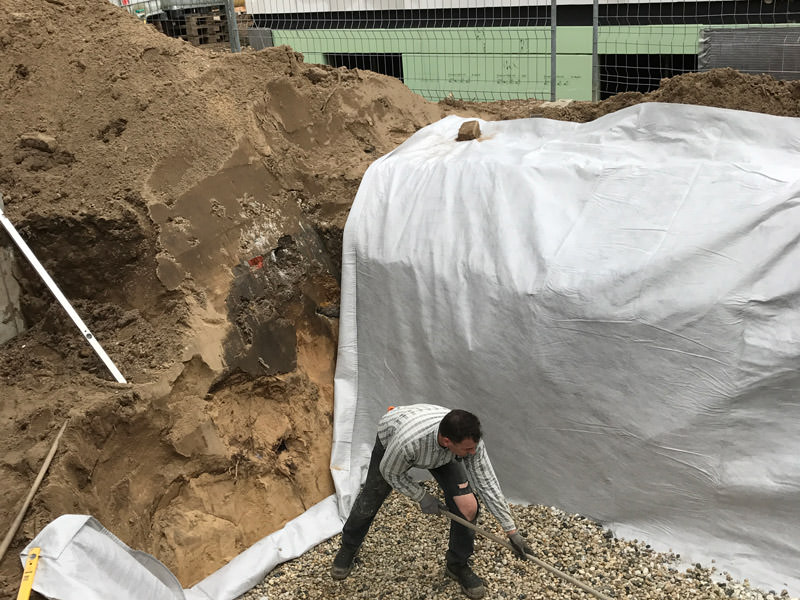 Unterbau EFH und Regenwasserrigole